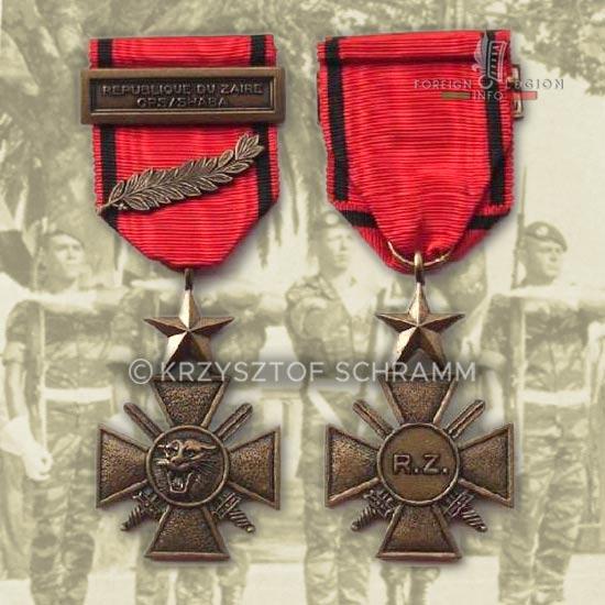 2 REP - 2e REP - 2nd REP - Battle of Kolwezi - 1978 - Kolwezi - Medal - Shaba Medal - Bravery Cross