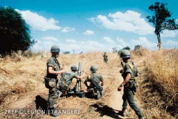 2 REP - Battle of Kolwezi - 1978 - Kolwezi - Mortar Platoon - S81