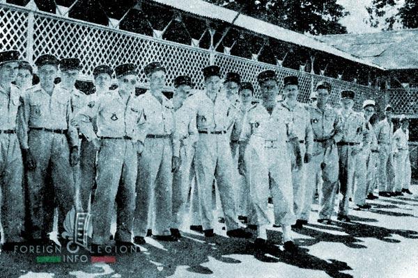 1re CMRLE - 1 CMRLE - Repair Company - 1954 - NCOs - Bien Hoa