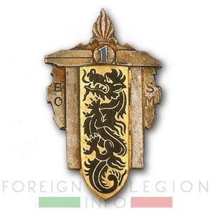 1er BOSM - 1 BOSM - Bataillon d'Ouvriers - 1948 - Insignia - Badge - Indochina