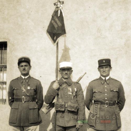 Compagnie montée du 2e REI - Fanion - Cne Fouré - Ltn Brencklé - Maroc - 1930