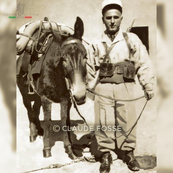 2e REI - 1938 - Compagnie montée - Legionnaire - Mulet - Ksar es Souk - Maroc