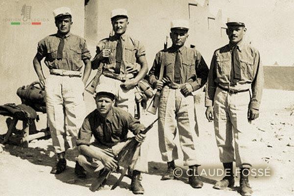 Compagnie montée - 2e REI - 1939 - Sous-officiers - Légion étrangère - Ksar es Souk - Maroc