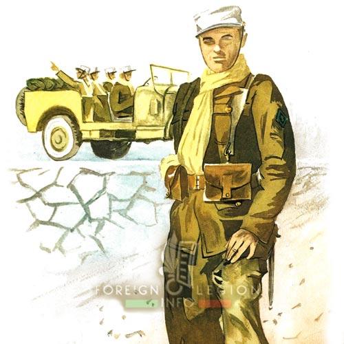 Légionnaire - Compagnie Montée - 4e REI - Légion étrangère - Maroc - 1948