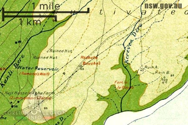 Foreign Legion - Battalion - Balkans - Map - Dardanelles - Gallipoli - Kereves Dere - Redoubt Bouchet - Redoubt Le Gouez - 1915