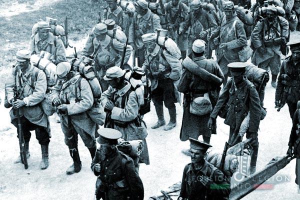 Soldats français - Soldats britanniques - Salonique - 1915