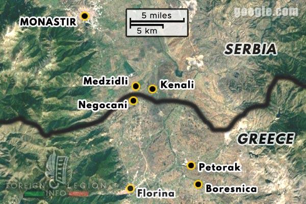 Foreign Legion - Battalion - Balkans - Map - Florina - Negocani - Medzidli - Kenali - Monastir - 1916