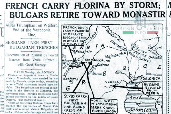 Foreign Legion - Battalion - Balkans - Florina - 1916