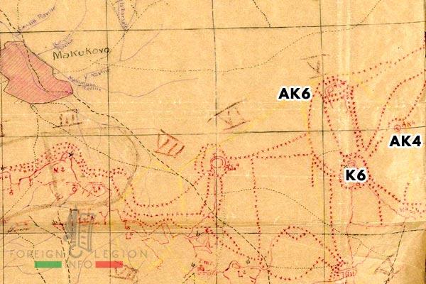 Compagnie de Légion - Orient - Legion Etrangere - 1917 - Makukovo - Positions