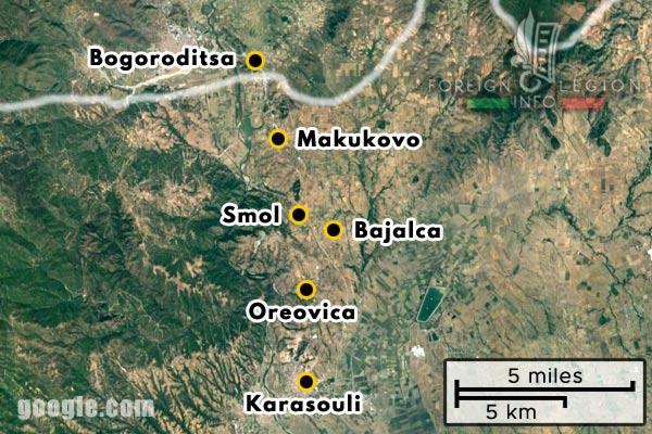 Foreign Legion - Company - Balkans - Map - 1917 - Karasouli - Oreovica - Smol - Bajalca - Makukovo - Bogoroditsa