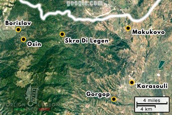 Foreign Legion - Company - Balkans - Map - 1918 - Gorgop - Osin - Borislav - Skra di Legen