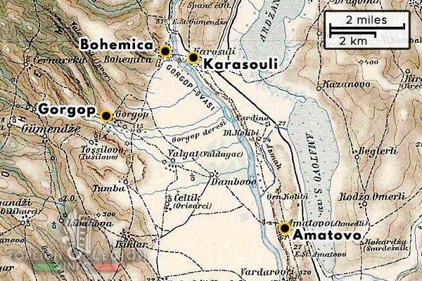 Foreign Legion - Company - Balkans - Map - 1918 - Karasouli - Amatevo - Bohemica - Gorgop