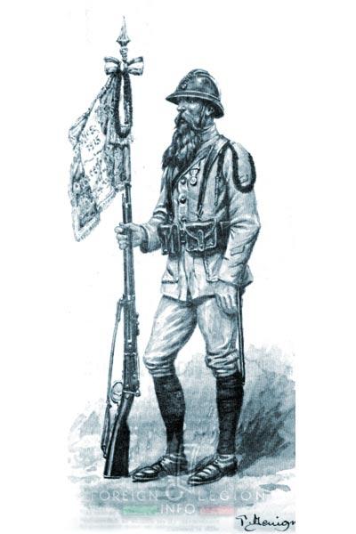 Foreign Legion - Company - Balkans - 1919 - Porte-fanion - Fanion-bearer