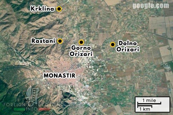 Foreign Legion - Company - Balkans - Map - 1918 - Monastir - Rastani - Krklina