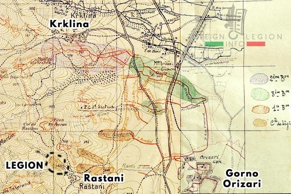 Compagnie de Légion - Orient - Legion Etrangere - 1918 - Monastir - Rastani - Krklina - Secteur d'Esterel - Positions