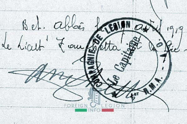 Foreign Legion - Company - Balkans - 1919 - Company Stamp