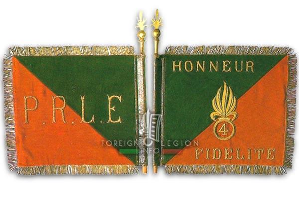 PRLE 4 - Peloton de Réparation - Fanion - Haute Volta - Légion Etrangère