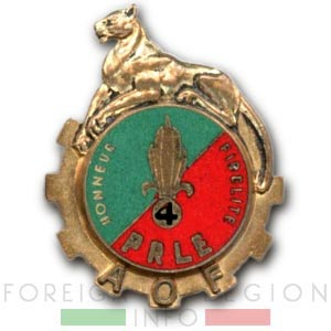 PRLE 4 - Peloton de Réparation - Insigne - Haute Volta - Légion Etrangère