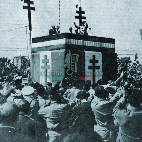 General de Gaulle in Algiers in 1958