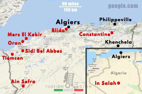 1961 Generals' Putsch of Algiers - Map