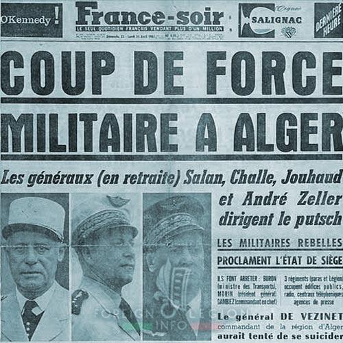 1961 Generals' Putsch - France Soir