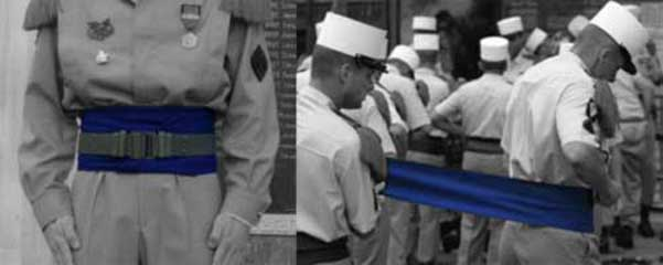 Blue sash of the Foreign Legion