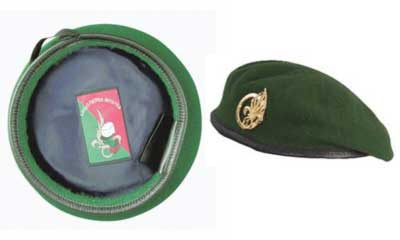 Green beret of the Foreign Legion
