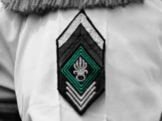 Green chevrons of the Foreign Legion