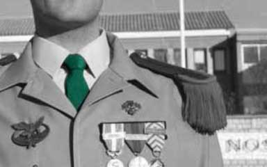 Green tie of the Foreign Legion