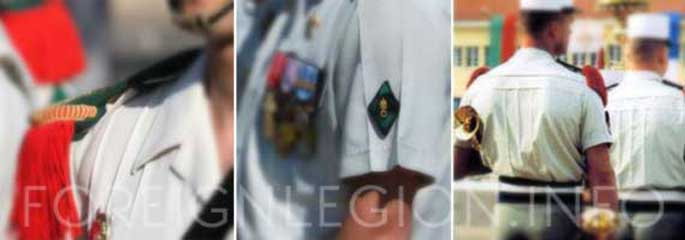 Creases of shirt of the Foreign Legion