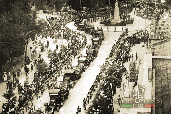 1er REI - 1 RE - Algeria - 1932 Turenne Rail Accident - Sidi Bel Abbes - Funeral