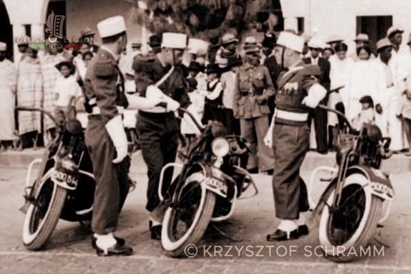 Tananarive - Motos - 4th Squadron - 2e REC - 2 REC - Madagascar - Foreign Legion - 1950