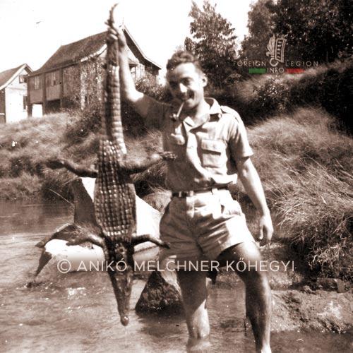 Legionnaire - crocodile - 4e DBLE - 4 DBLE - Madagascar - Foreign Legion - 1948