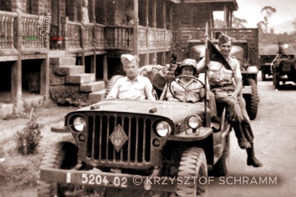 4e DBLEM - 4 DBLEM - Jeep - Madagascar - Foreign Legion - 1947