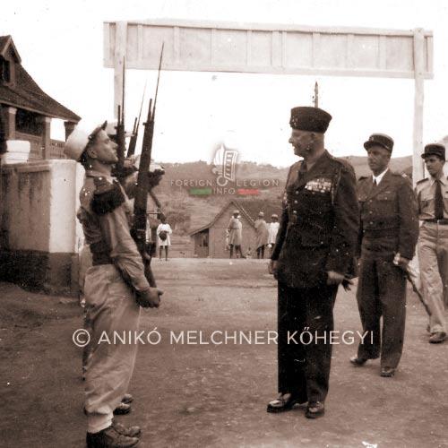 General Monclar - 4e DBLE - 4 DBLE - Madagascar - Legion Etrangere - 1948
