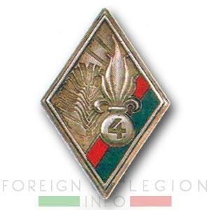 4th Battalion - 4e REI - 4 REI - Foreign Legion - Badge - 1949 or 1950