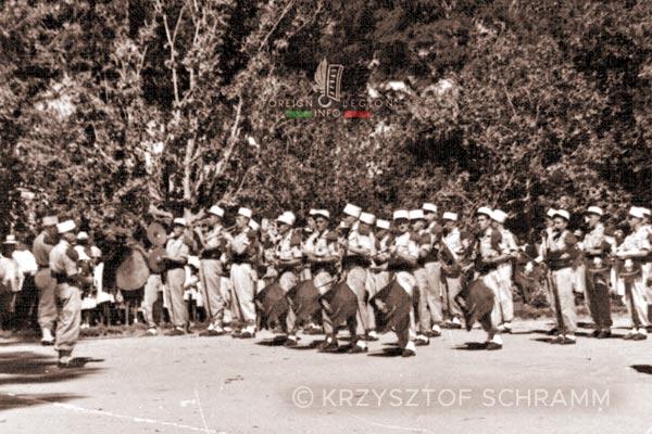 Military band - 4e REI - 4 REI - Madagascar - Foreign Legion - 1950