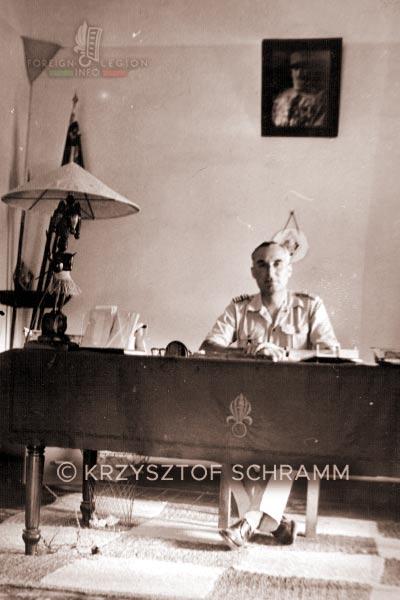 Lieutenant-colonel Albert Royer - bureau - 4th Battalion - 4e REI - 4 REI - Foreign Legion - 1950