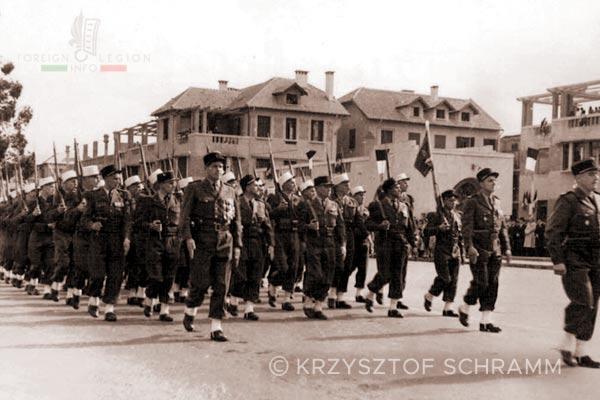 4e REI - 4 REI - Madagascar - Foreign Legion - Tananarive - parade - 14 July - 1950