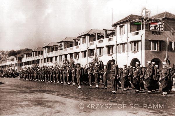 4e REI - 4 REI - Madagascar - Foreign Legion - Tananarive - Military band - 14 July - 1950