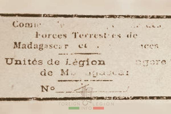 ULEM - Foreign Legion Units of Madagascar - Foreign Legion - 1950 - stamp
