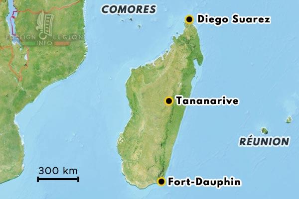 Madagascar - Tananarive - Diego Suarez - carte
