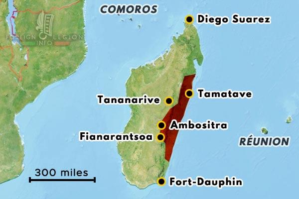 Madagascar - Fianarantsoa - Ambositra - map