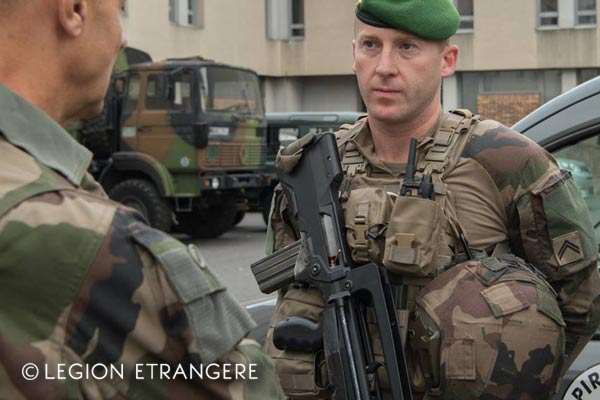 French Foreign Legion - 2e REG - Combat Uniform - Operation Sentinelle - Paris - 2018