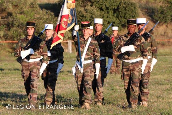 French Foreign Legion Regimental color guard combat uniform