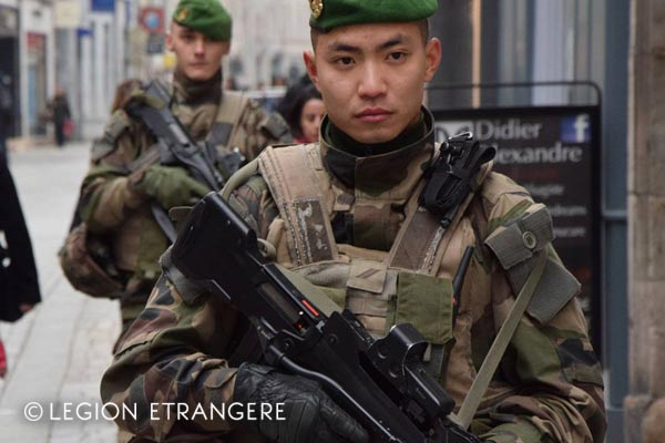 French Foreign Legion - 2e REI - Combat Uniform - Operation Sentinelle - Strasbourg - 2018