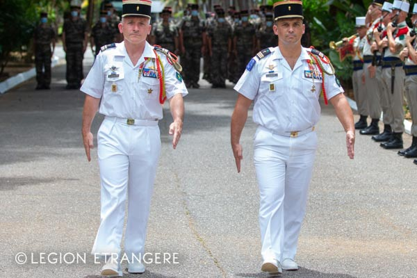 French Foreign Legion - Walking out dress white uniform - Guiana