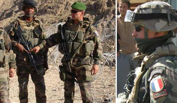French Foreign Legion combat uniform in Afghanistan