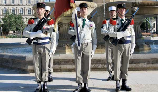 French Foreign Legion Regimental color guard summer uniform