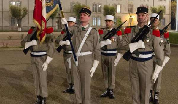 French Foreign Legion Regimental flag guard winter uniform